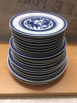8-10 inch New Porcelain Plate 21 pcs