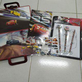 Cars Stationery and colouring sticker kit activity pack
