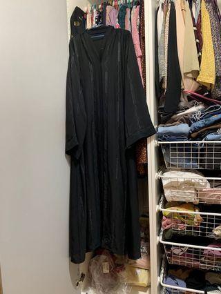 Black Jubah Abaya Embroidered