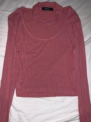 Forever 21 long sleeved crop tee