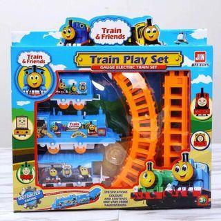 SET TRAIN Kanak-Kanak Cartoon Theme Kids Train Set