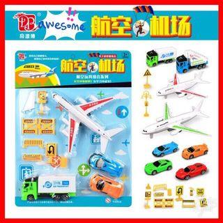 CUTE Aeroplane Airport Cars Tools Set Role Play