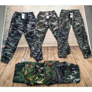 ‼️READY STOCK‼️FILA Jogger Pants Army Theme Seluar Jogging