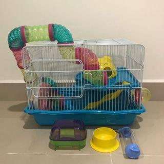 Hamster slide Cage