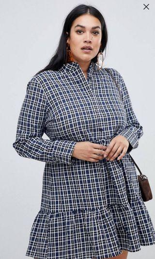 🚚 Plus size checkered dress UK 20