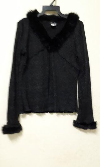 🚚 Furry Black Cardigan