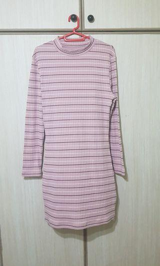 Sale - Pink Stripe Dress