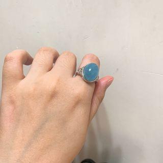 海藍寶s925銀戒指💍