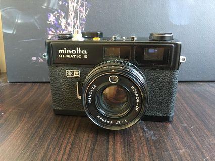 Minolta hi-matic E 黑機 旁軸相機