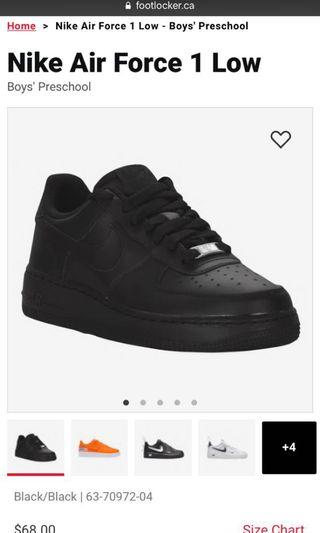 Nike Air Force 1s size 3Y/women's 5