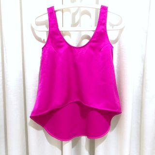 GG5 Fuchsia Pink Crop Top