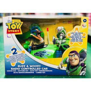 TOY STORY 正版迪士尼玩具總動員 胡迪載巴斯光年遙控車