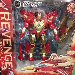 鋼鐵雄鷹經典版 復仇英雄聯盟變形機器人