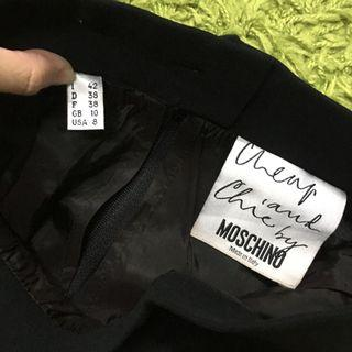 Moschino AUTHENTIC Black Pencil Skirt