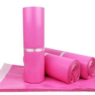 instock $0.15 pink polymailers