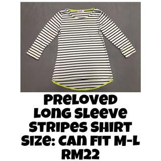 Knitted Stripes Blouse