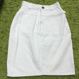 Gianni Versace White Denim Pencil Skirt AUTHENTIC