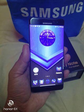 Samsung Note FE Fullset Box mcm baru