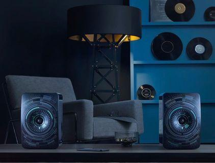 KEF LS50W Nocturne Edition with Original Performance Stands.