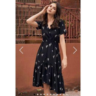 THE CLOSET LOVER CASTORIA FLORAL PRINTED DRESS
