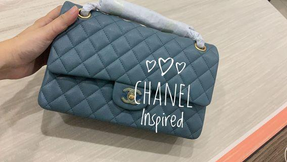 Chanel CF sling bag chain bag blue Inspired