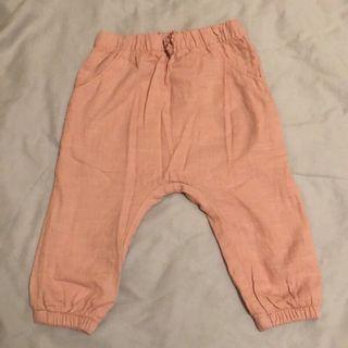 🚚 H&M長褲粉色 全新未穿過但有下水洗過一次 12-18M