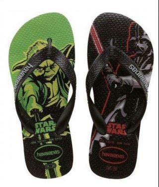 Havaianas Star Wars Unisex Flip Flops Grey/Black