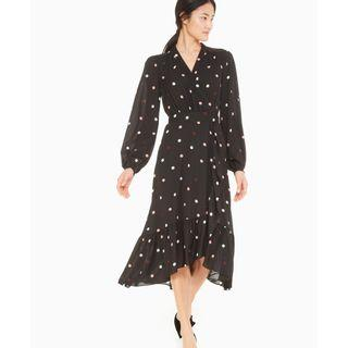 Kate Spade 長袖黑色雪紡洋裝 連衣裙 尺寸0/美國尺寸4號 (約S)