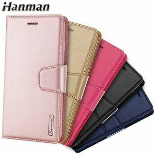 Hanman Leather Stand Wallet Flip Case Cover