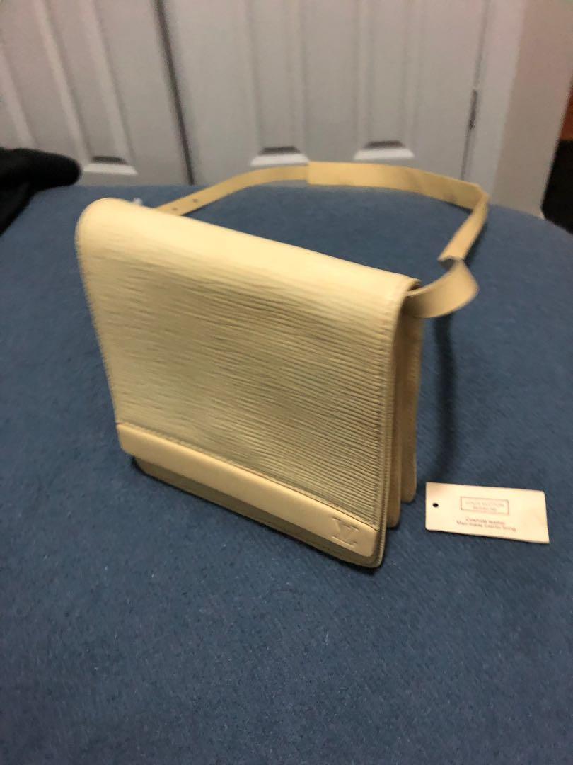 Authentic Louis Vuitton Yellow Epi Leather Biarritz Shoulder Bag
