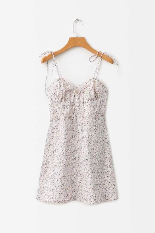 Baby pink floral dress