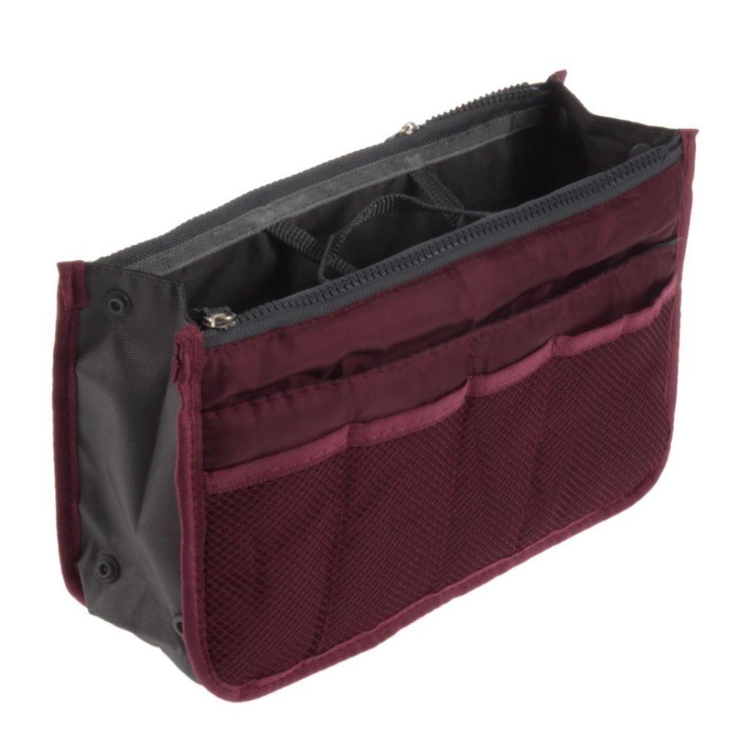 Bag Insert Travel Wine Red Handbag Organiser With Handles