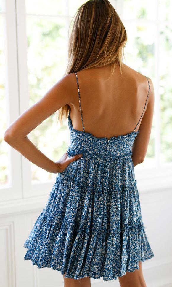 BNWT blue floral dress