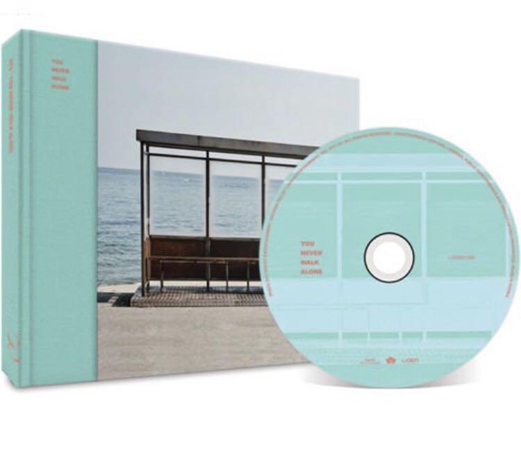 BTS WINGS: YOU NEVER WALK ALONE ALBUM LEFT VERSION + JIN PHOTOCARD + CD