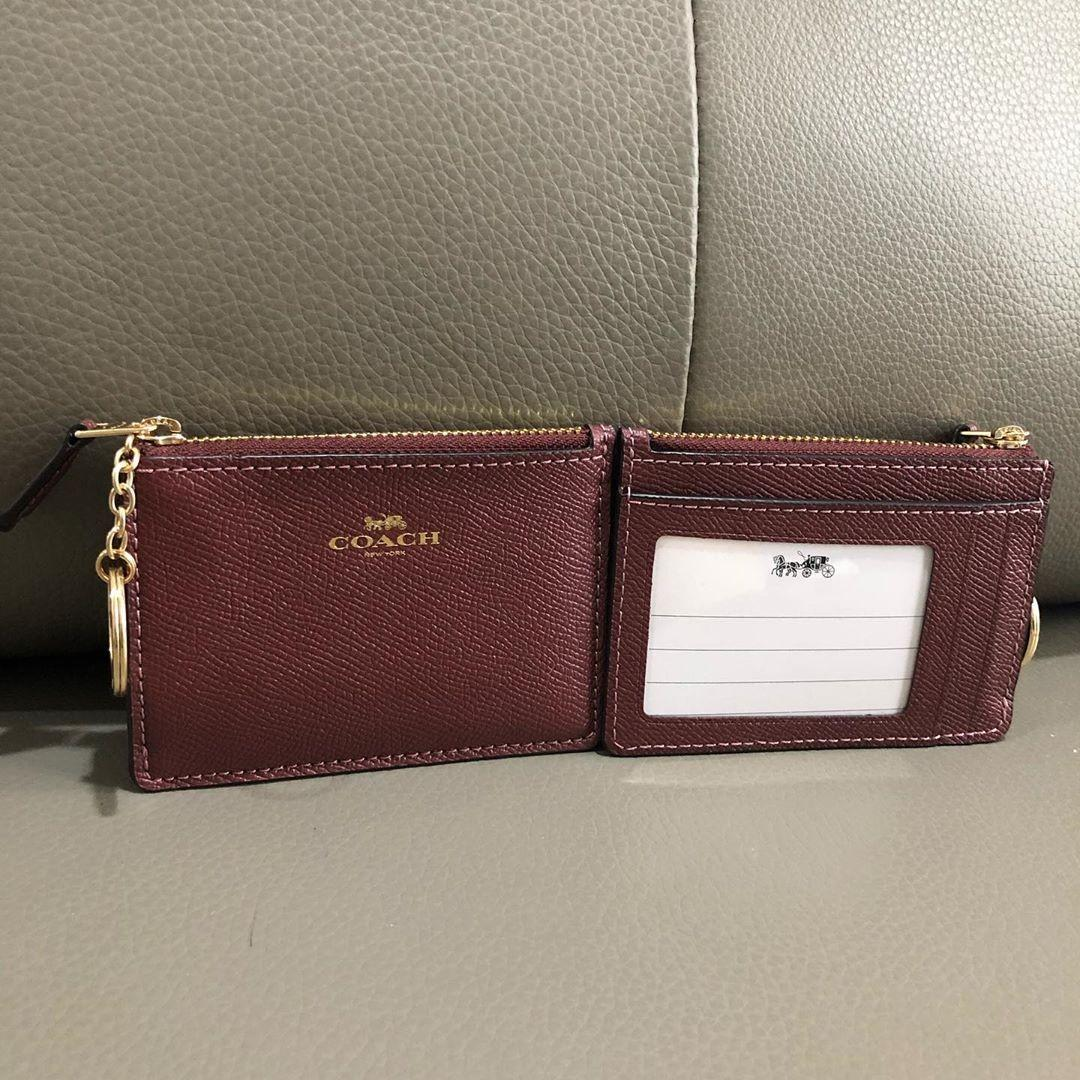 Coach skinny id card wallet sz 11x8 with key ring (bisa utk dompet kunci dan stnk)
