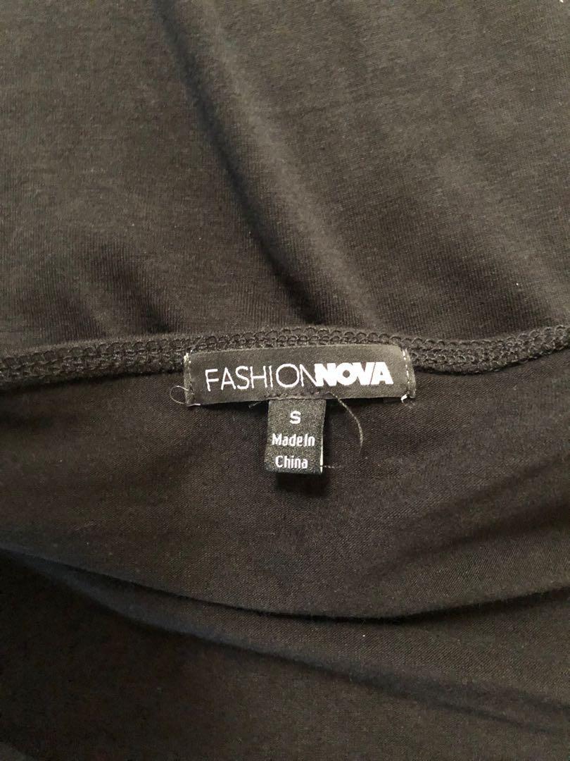Fashion Nova Black tank bodysuit - Size small