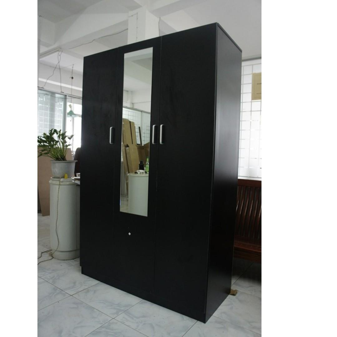 Free delivery ! 3 Door Combo/Wardrobe/Cabinet with Mirror at $300