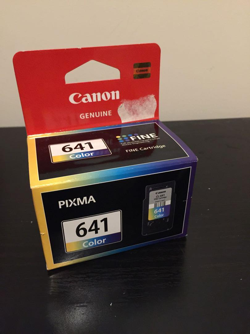 Genuine Canon Fine Cartridges (CL-641 and Black 640)