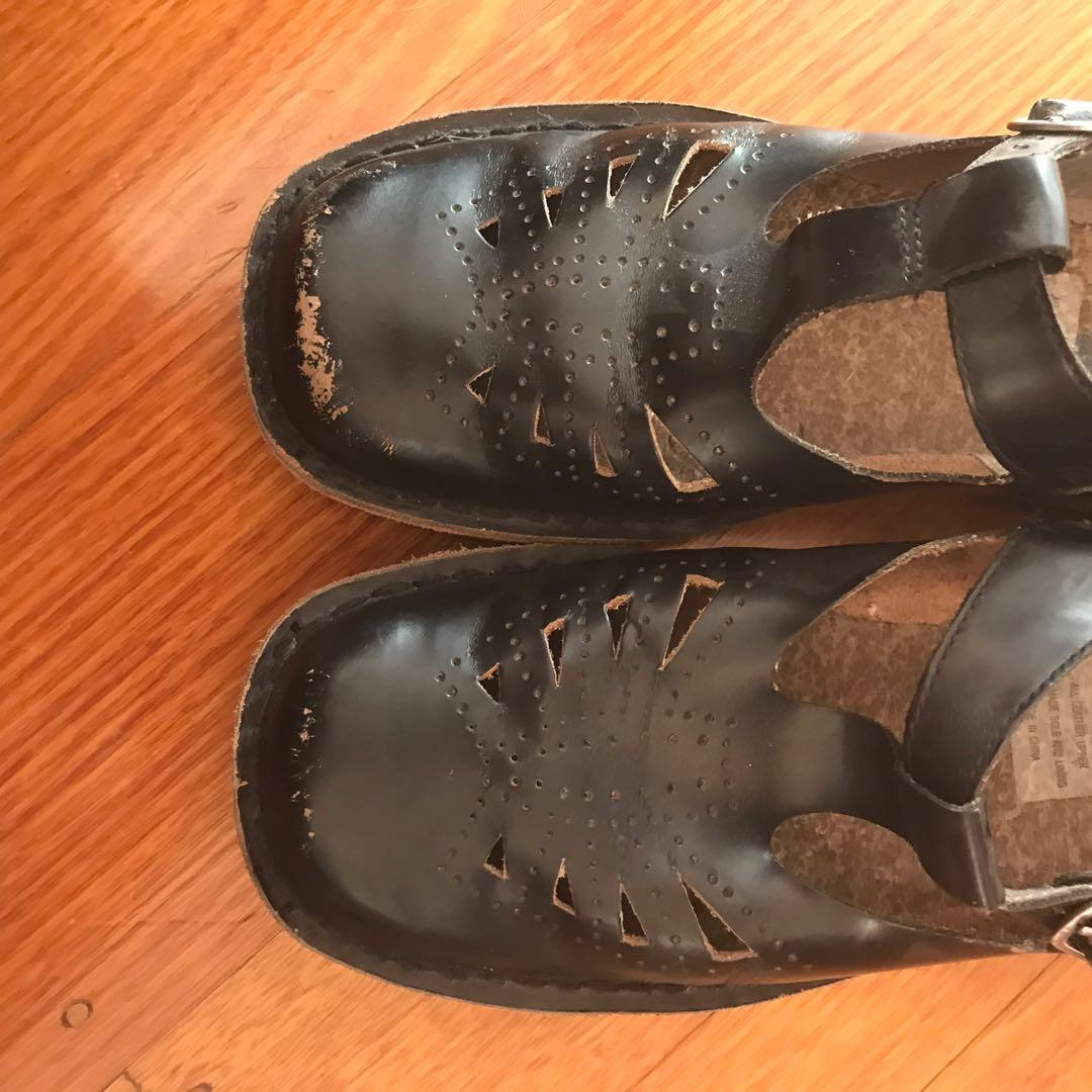 Harrison's Black T-Bar School Shoes