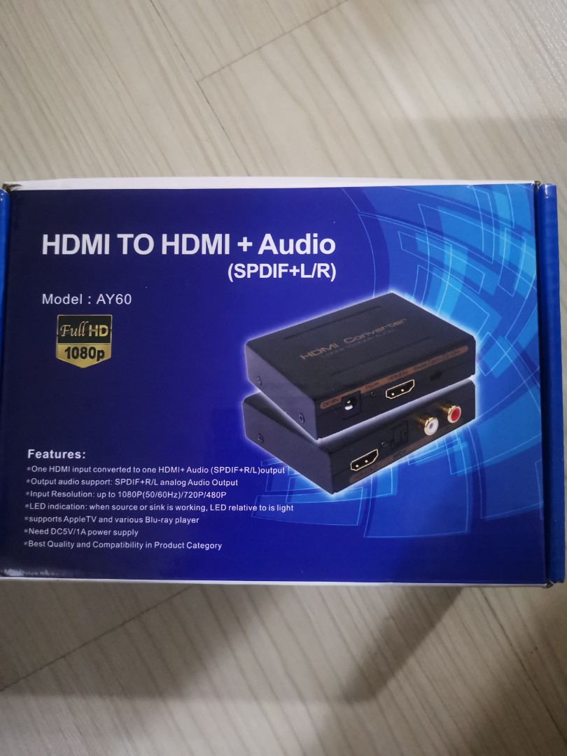 HDMI Audio Splitter Adapter To With Optical TOSLINK SPDIF And Analog RCA