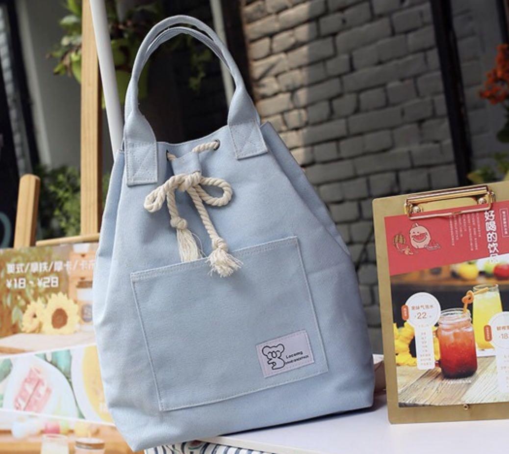 Import Tas Ransel Korea / Canvas Backpack ada 4 warna model serut
