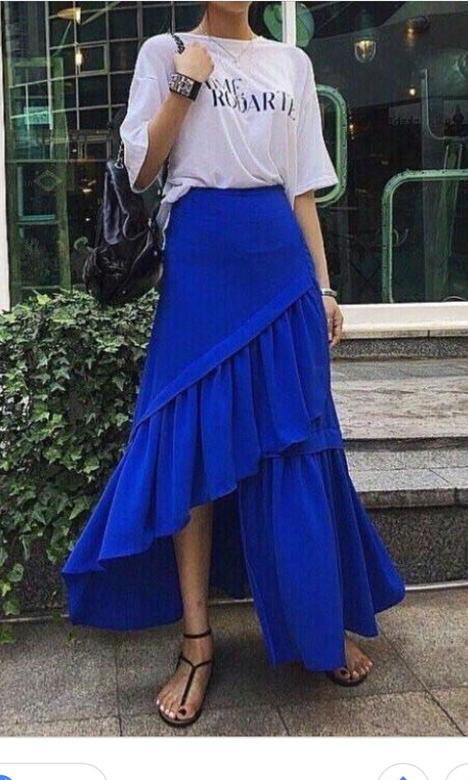 946b4261a1b7 KSisters 3 layered skirt in blue, Women's Fashion, Clothes, Dresses & Skirts  on Carousell