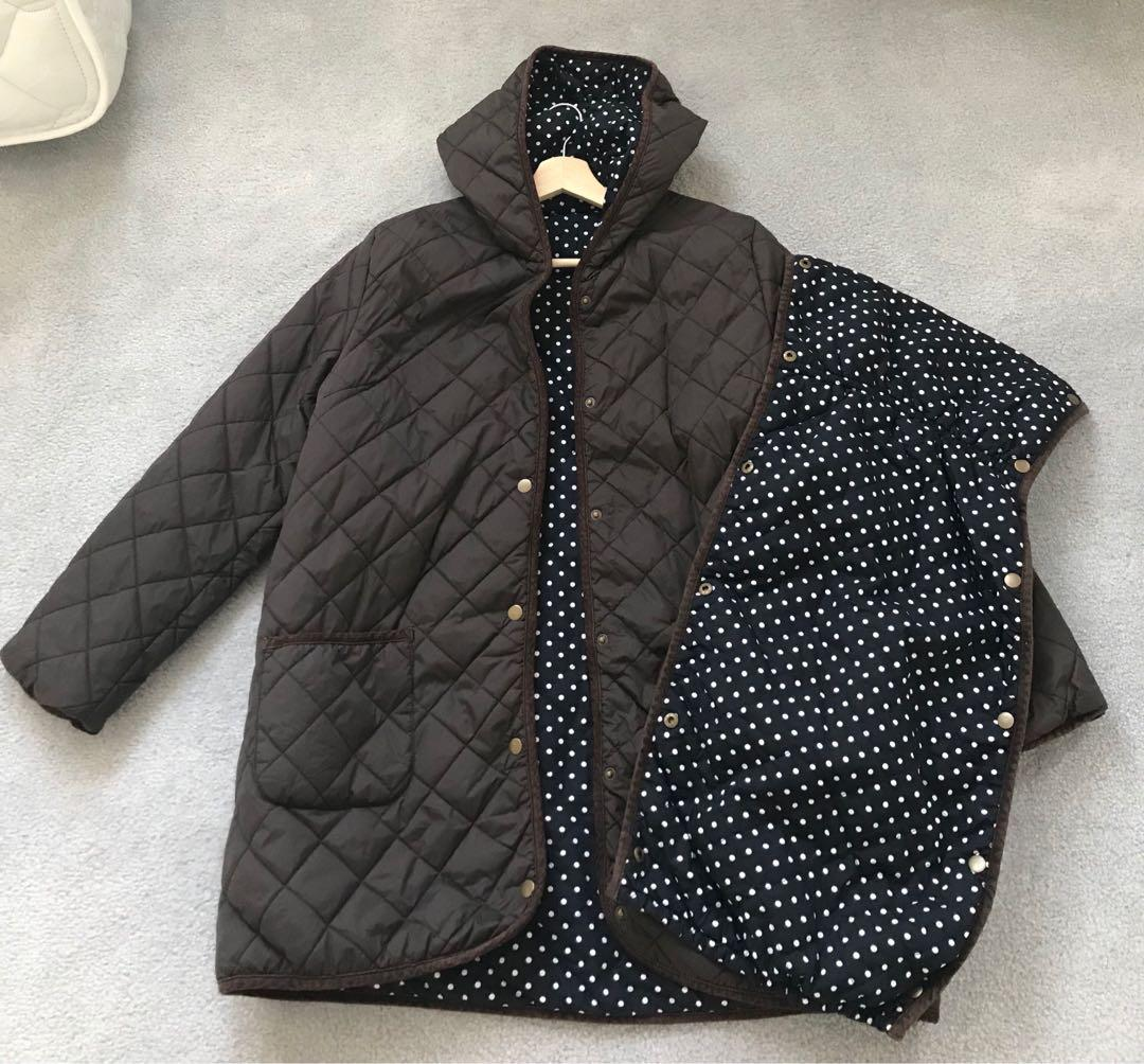 Maternity reversible jacket (with extender for baby carrying) (size L / EUR40 / US10-12)
