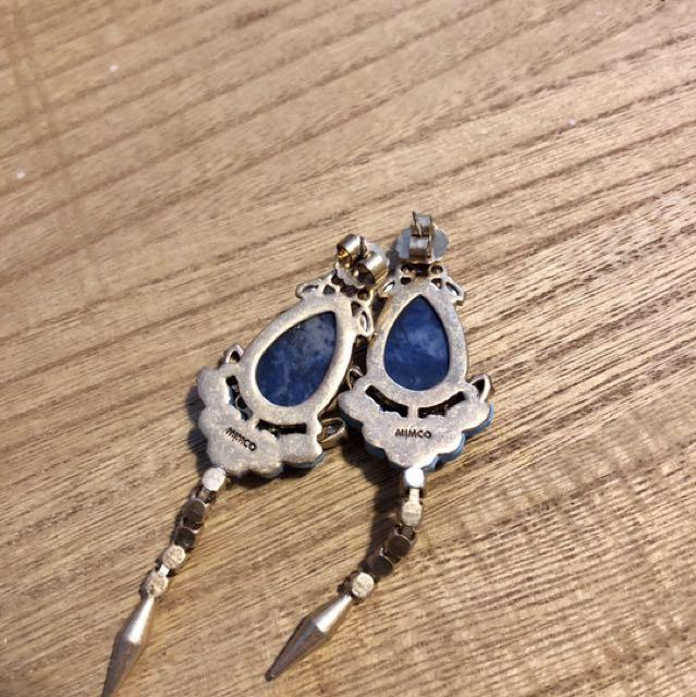 Mimco dangling Semi-gem earring  (Only worn once!)