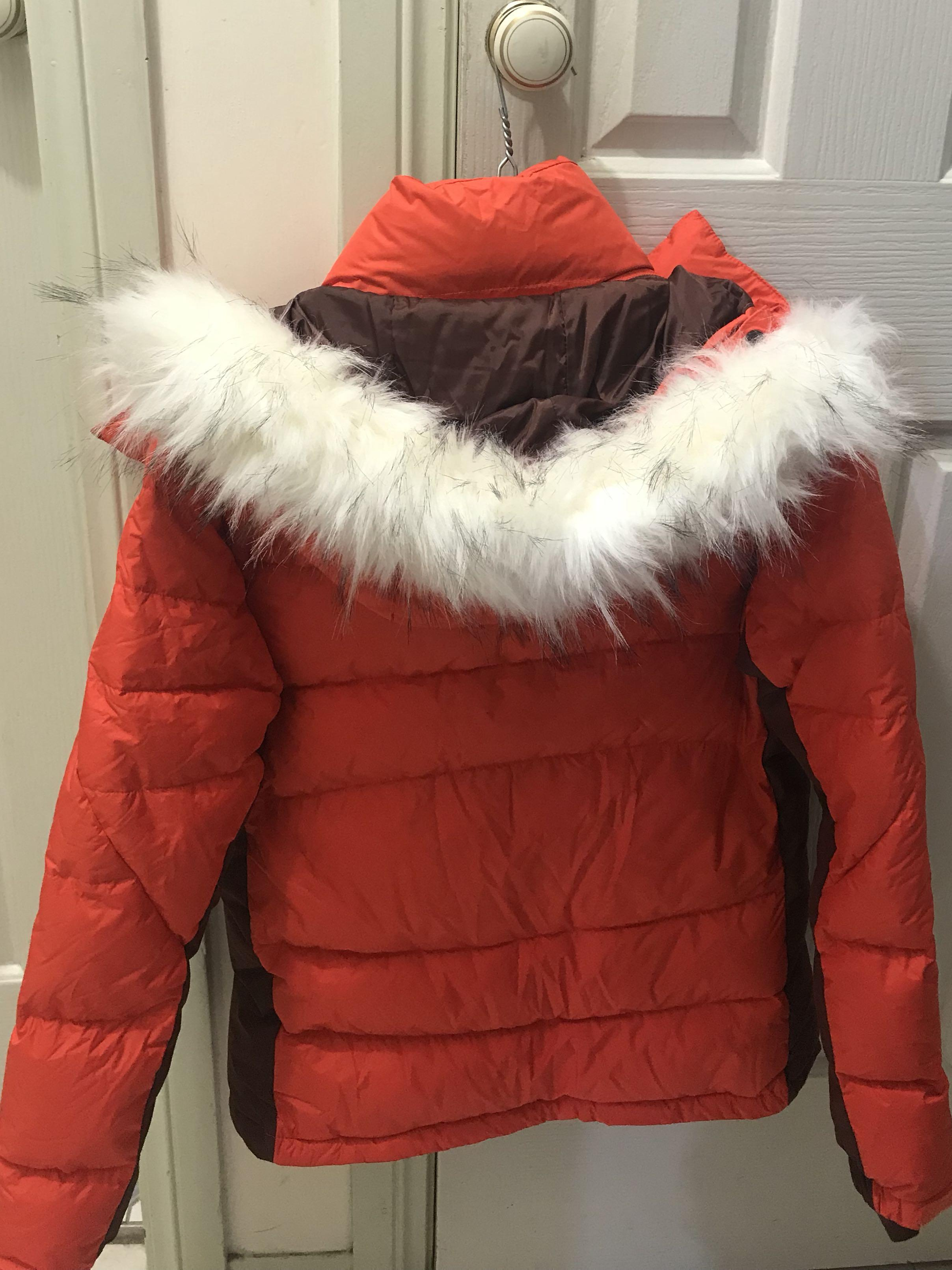 Orange Adidas Down Puffer Jacket