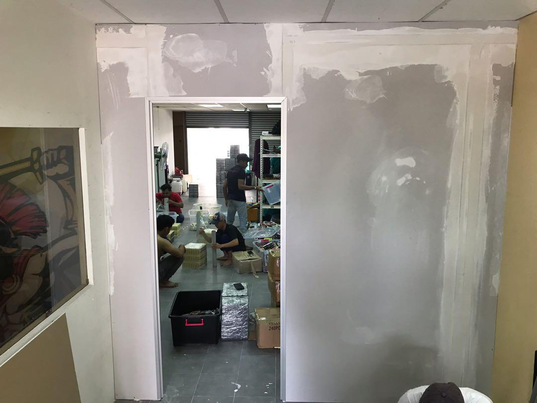 Partition Board Drywall Plastering/Skimming Wall Works Room Office Home
