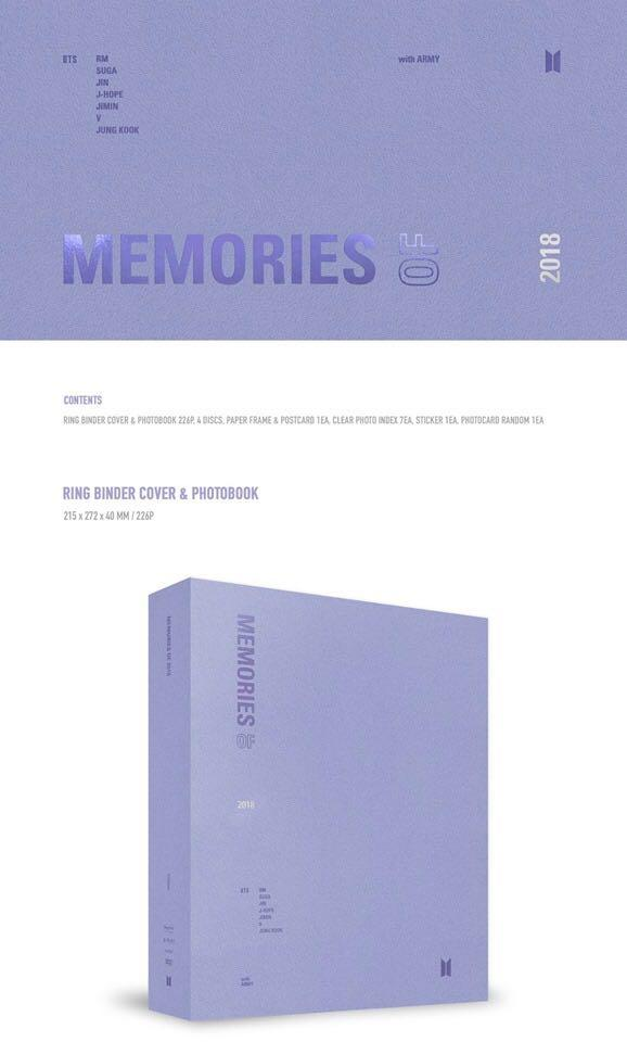 [Pre-Order] BTS BEST OF MEMORIES 2018 DVD & BLU-RAY SET