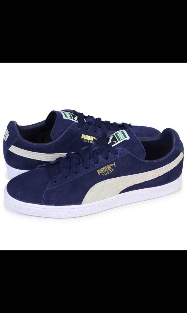 hot sales 5628f 02559 Puma Navy Blue Suede classic Trainers, shoes, sneakers ...