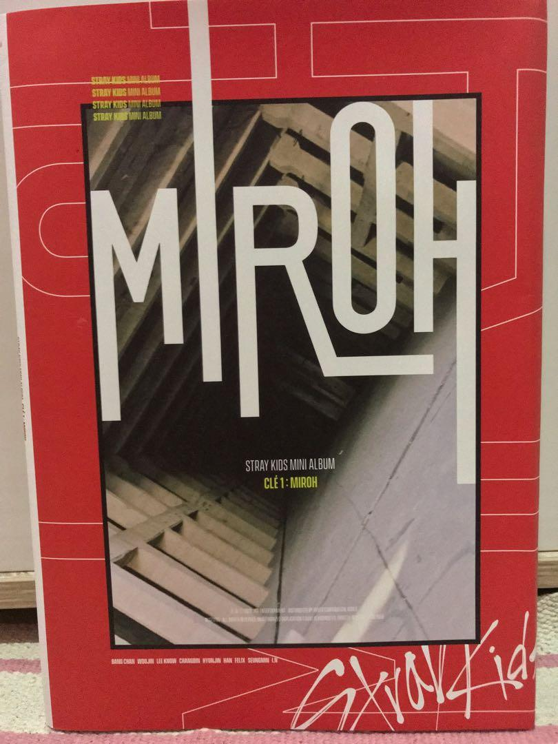stray kids album only cle 1 miroh limited edition (+ poster)