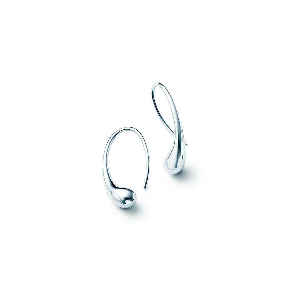 Tiffany and Co Elsa Peretti Teardrop earrings barely worn RPR $745